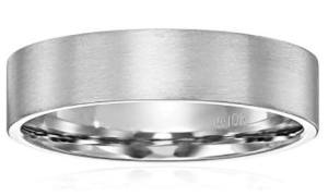 mens satin finish simple band