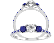 diamond and sapphire brdal ring