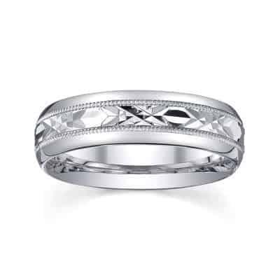 silver men wedding ring