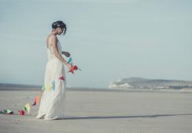 vestido boda playa