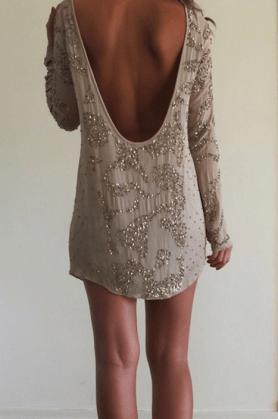 vestido corto espalda descubierta