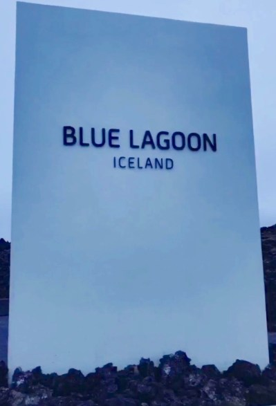 Blue Lagoon sign at entrance