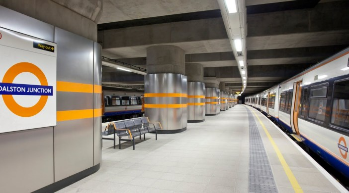 The construction of the East London Line, a new overground railway between Dalston & New Cross for Transport for London - Dalston Junction station 240711 © DavidAltheer [at] gmail.com