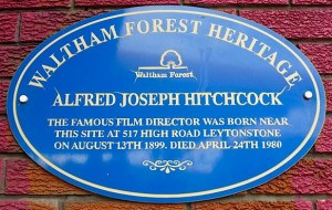 Hitchsign: Hitchcock sign at 517 Leytonstone High Rd Lon 28092013  © david.altheer@gmail.co.uk