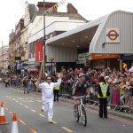 London 2012 Olympics torch in Kingsland High St Lon E8 Sat 21 July  © David Altheer
