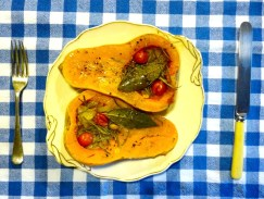 Roasted, stuffed squash, 12 October 2012