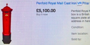 Ad on eBay: probably bought legally from the Royal Mail