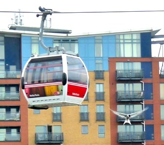 The cable car (and black-headed gull) at Silvertown E london 2013  © david.altheer@gmail.com