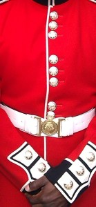 Close-up on the buttons and brass. Supplied pic