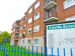 Rundown: the Colville Estate in Hackney this week © DA