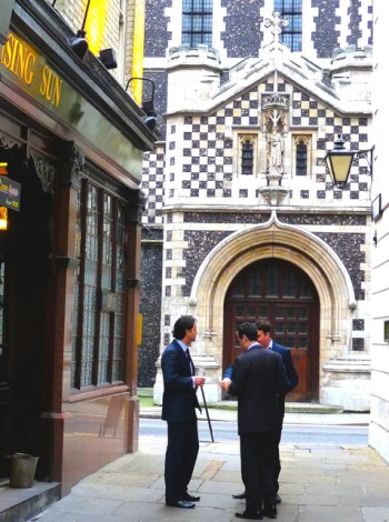 St Bart's Smithfield London side entrance Feb 2011 © david.altheer@gmail.com