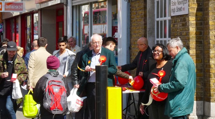 Abbott15: Hackney N sitting candidate Diane Abbott campaigns for Labour Stoke Newington High St in the spring 2015 general election © DavidAltheer@gmail.com