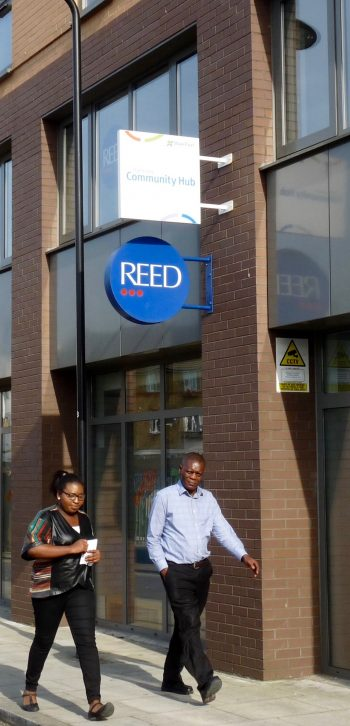 Reed jobs-aid office in Ramsgate St Dalston Hackney E8 050516 © david.altheer@gmail.com