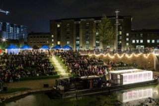 Canalside kino: Floating Cinema at King's Cross (supplied)