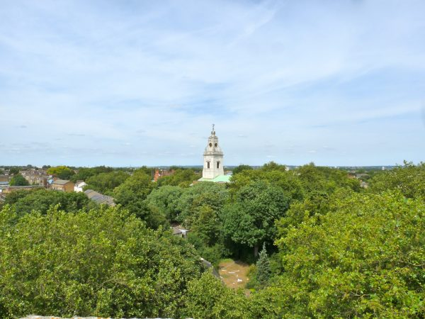 From St Augustine's tower: NE London, St John-at-Hackney church Clapton 180715 © DavidAltheer@gmail.com
