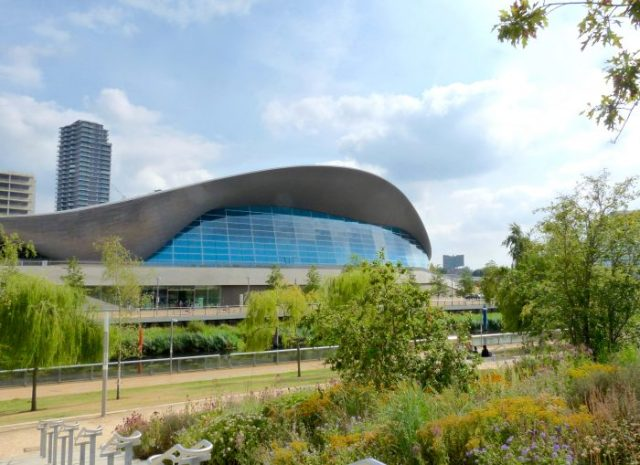 London Aquatics Centre at Stratford. designed by the late Zaha Hadid © David Altheer