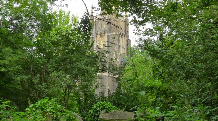 Abney12: Abney Park cemetery chapel Lon N16 July 2012 © david.altheer[ at ] gmail.com