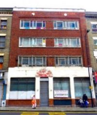 pub12: Proposed Farr's School of Dancing pub-restaurant Dalston Lane Lon at E8 3DF May 2012 © david.altheerATgmail.com