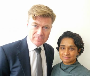 Hasina17: Allistair Anderson and wife-business-partner Hasina Zaman of Compassionate Funerals @ Wanstead N London © david.altheer@gmail.com 3110717