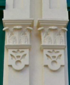 Corbels: repro arc in Dalston Lane ÏGeorgian tce 180417 © David,Altheer@gmail,com
