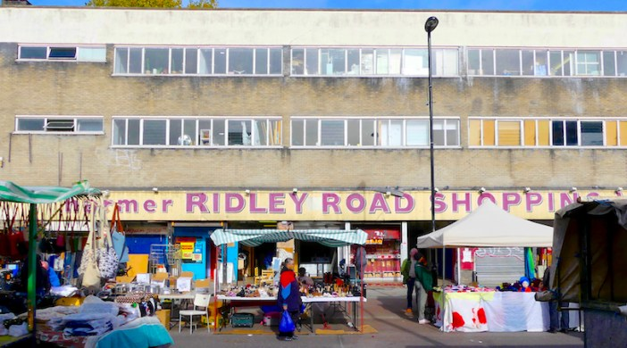 Harmer©DA18: Harmer Ridley Road Shopping Village 51-63 Ridley Rd N side Dalston E8 231018 © david.altheer@gmail.com