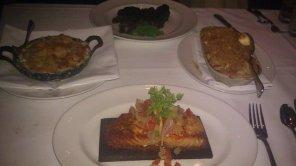 Cedar Planked Salmon, Mac & Cheese, Porcini Rubbed Delmonico, Potatoes