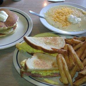 IHOP Ham & Egg Melt