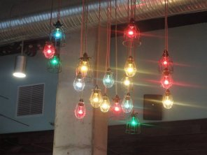 Colored ceiling lights