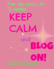 Keep Calm and Blog On Award