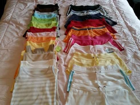Tank tops & shorts