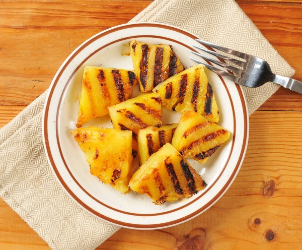 Grilled Pineapple Chunks