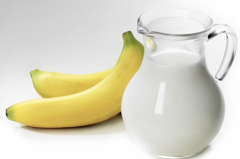 warm milk and banana for constipation