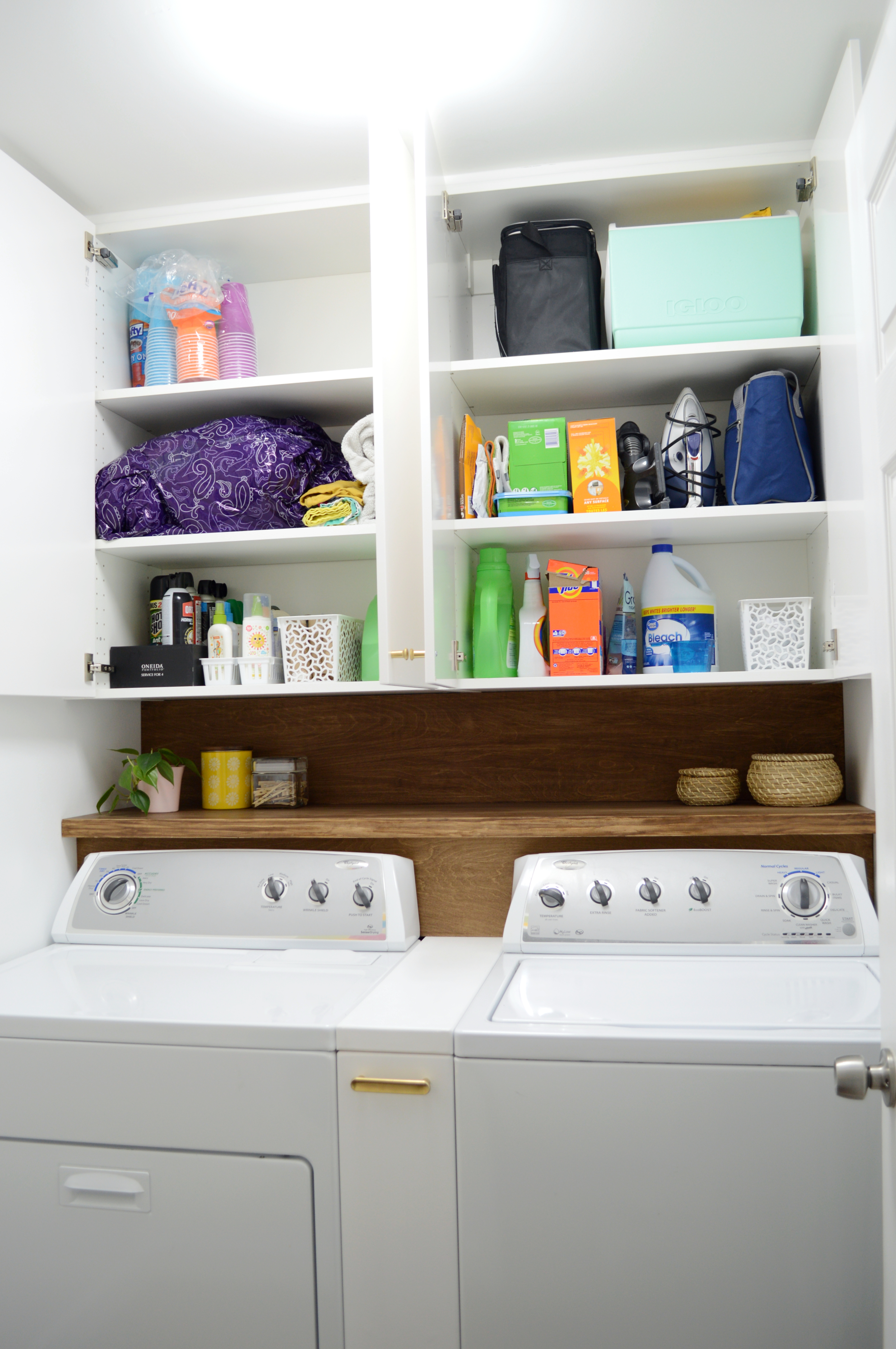 Beautiful Small Laundry Room Reno - Our One Room Challenge ... on Small Laundry Room Cabinets  id=69314