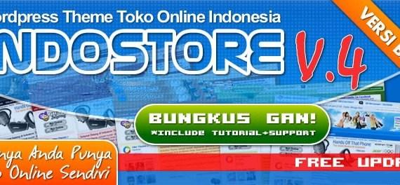 Wordpress theme toko online Indostore