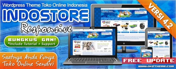 Template WordPress Website Toko Online IndoStore Theme V4.2
