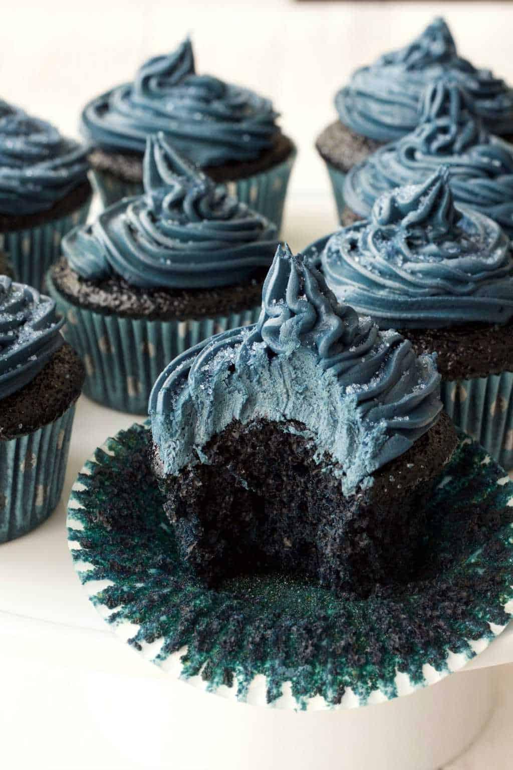 Midnight Blue Velvet Cupcakes Loving It Vegan