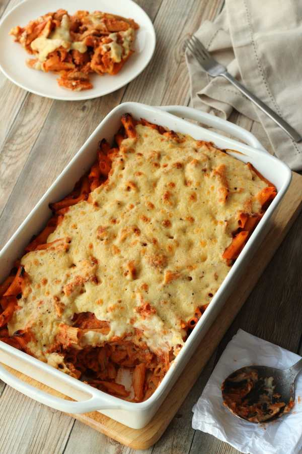 Vegan Pasta Bake Rich and Creamy Loving It Vegan