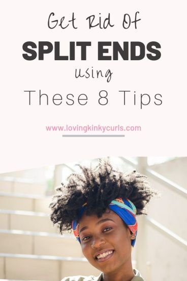 How to prevent split ends in natural 4c hair
