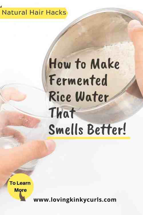 How to make fermented rice water that smells better