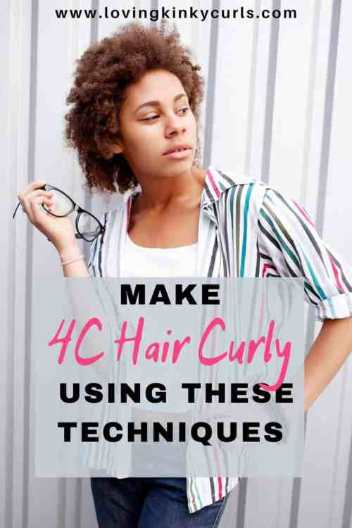 How to make 4C hair curly