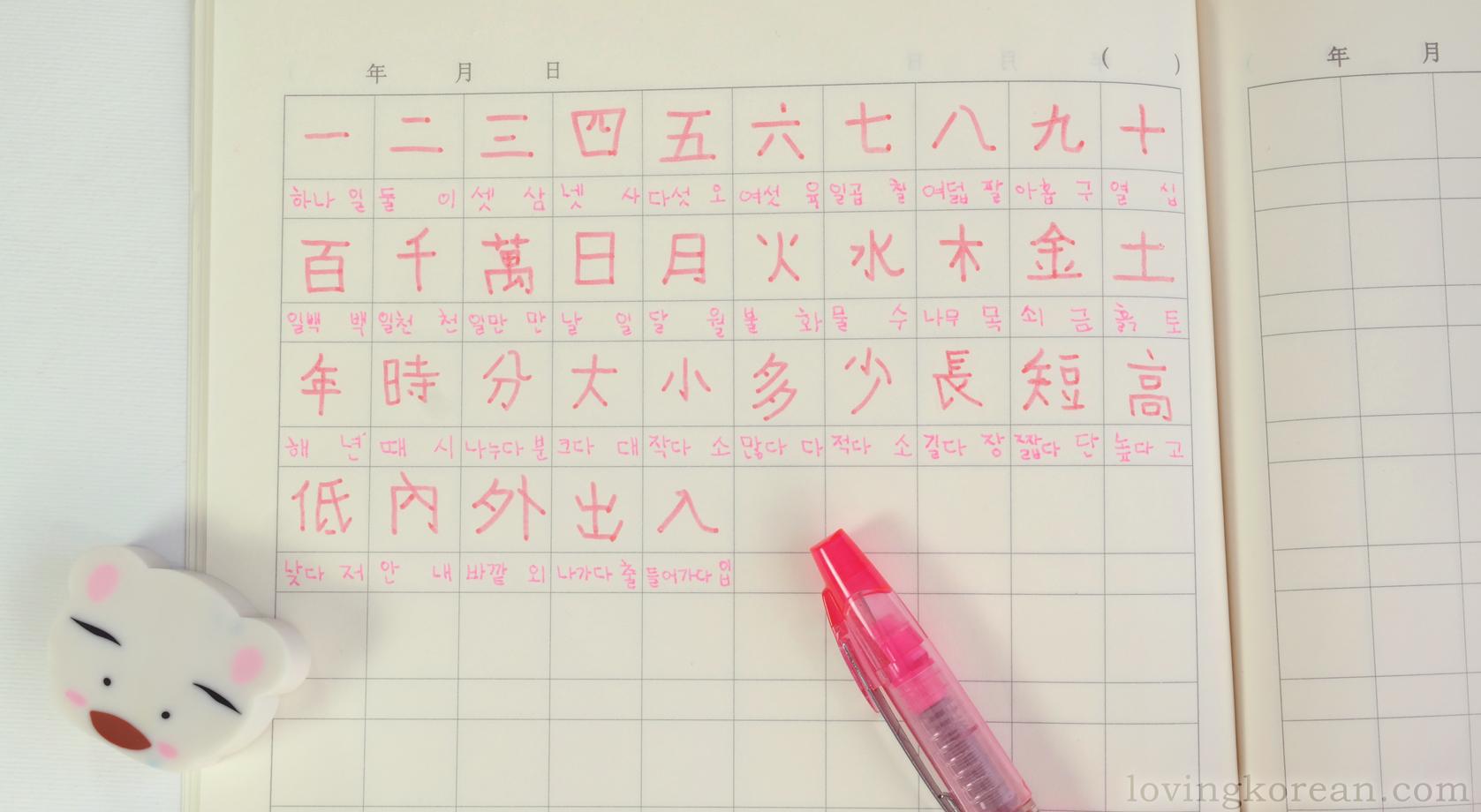 Korean Chinese Characters Hanja Written In Morning Glory