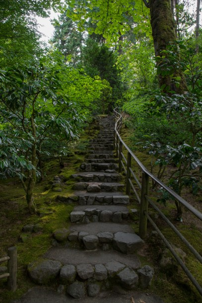 Stairs at Portland Japanese Gardens-19503650869