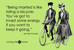 Being Married is Like Riding a Bike