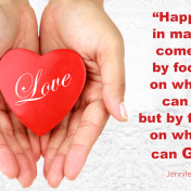 For a happy, lasting marriage, focus on what you can give -- not on what you can get.