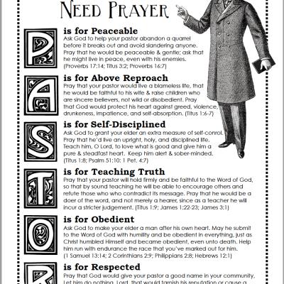Praying for Your Pastor (Free Printable Prayer Guide)