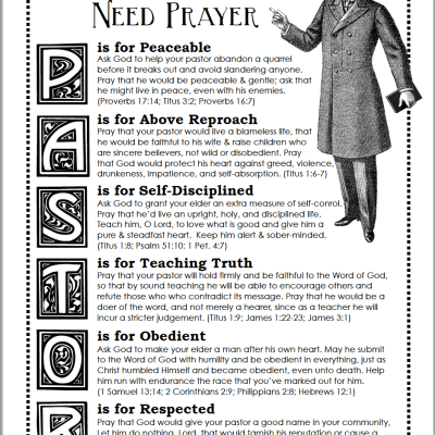 Praying for Your Pastor (Free Printable Prayer Guide)
