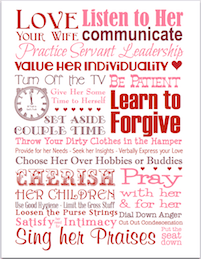 Love Your Wife | free printable subway art from http://lovinglifeathome.com