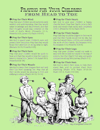 Praying for Your Children from Head to Toe | a free printable prayer guide from Loving Life at Home