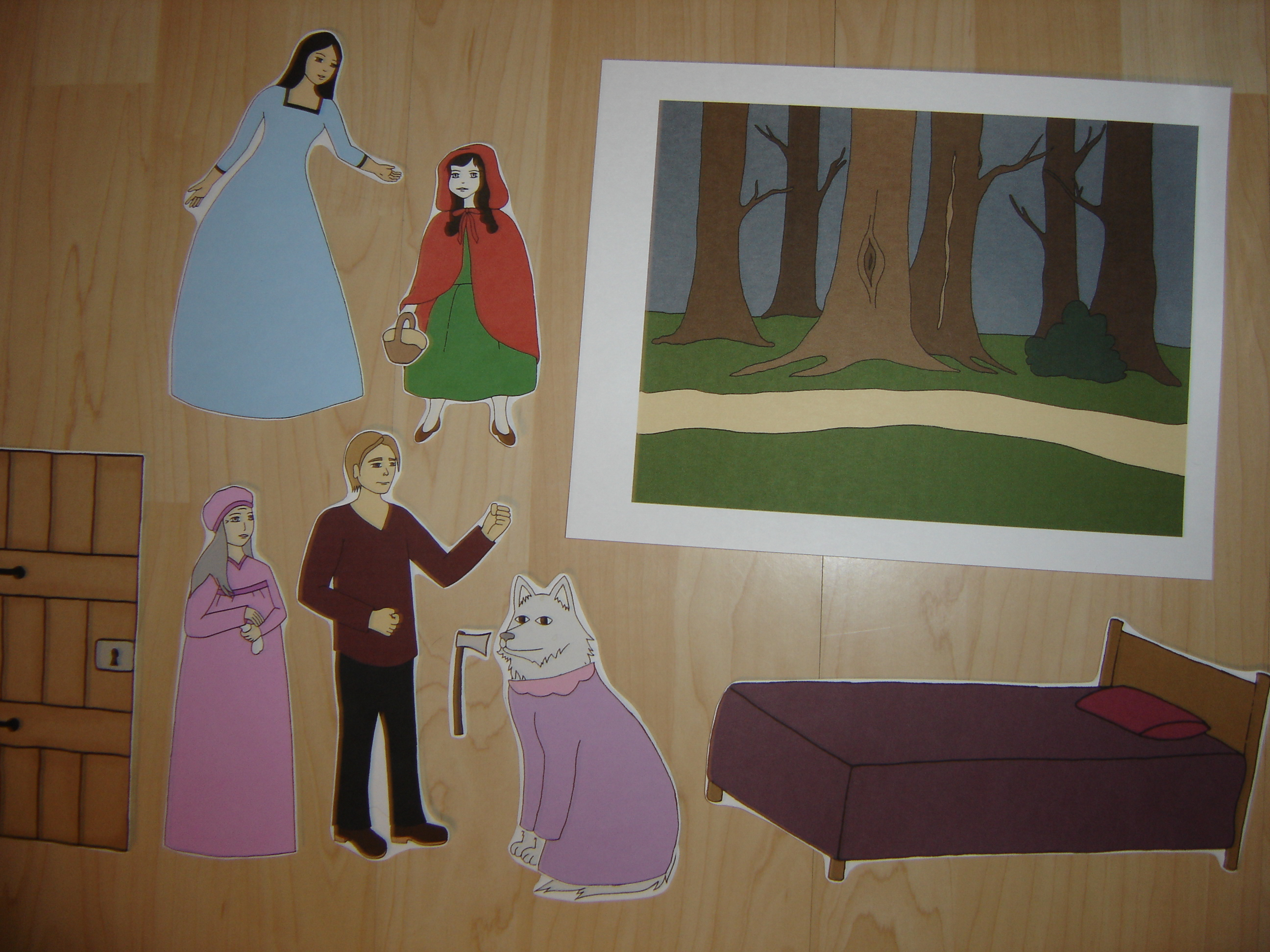Preschool Corner Little Red Riding Hood Unit