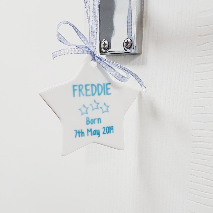 Personalised Hanging Star